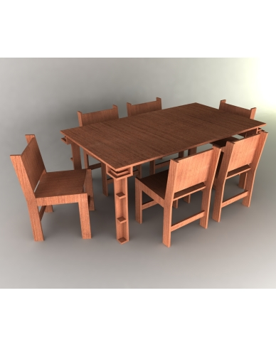 Dining Room Set 1 - $7.99 : Plan Canvas LLC, Woodworking Furniture Plans :  furniture plywood modern dining room